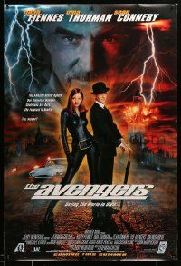 1g093 AVENGERS int'l advance 1sh '98 sexy Uma Thurman as Emma Peel - saving the world in style!