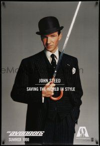 1g095 AVENGERS teaser DS 1sh '98 Ralph Fiennes as John Steed - saving the world in style!