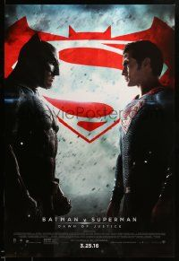 1g112 BATMAN V SUPERMAN advance DS 1sh '16 Ben Affleck and Henry Cavill in title roles facing off!