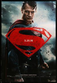 1g119 BATMAN V SUPERMAN teaser DS 1sh '16 waist-high image of Henry Cavill in title role!