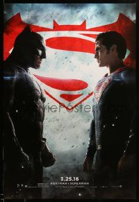 1g113 BATMAN V SUPERMAN teaser DS 1sh '16 Ben Affleck and Henry Cavill in title roles facing off!
