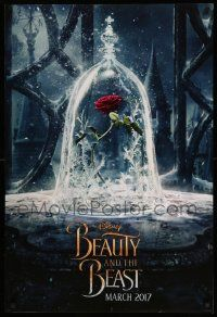 1g121 BEAUTY & THE BEAST teaser DS 1sh '17 Walt Disney, great image of The Enchanted Rose!