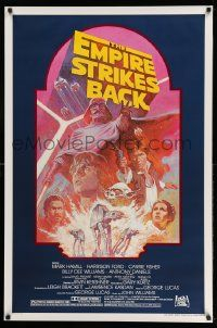1g004 EMPIRE STRIKES BACK studio style 1sh R82 George Lucas classic, cool montage art by Tom Jung!