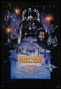 1g005 EMPIRE STRIKES BACK style C advance 1sh R97 George Lucas, cool art by Drew Struzan!