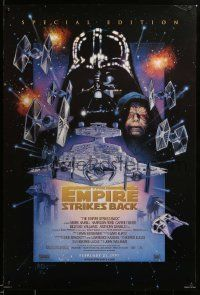 1g006 EMPIRE STRIKES BACK style C advance DS 1sh R97 George Lucas, cool art by Drew Struzan!