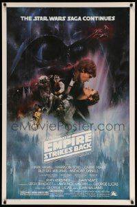 1g003 EMPIRE STRIKES BACK studio style 1sh '80 classic Gone With The Wind style art by Roger Kastel
