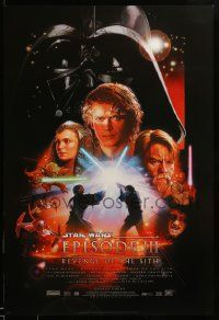 1g023 REVENGE OF THE SITH style B DS 1sh '05 Star Wars Episode III, montage art by Drew Struzan!