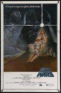 1g001 STAR WARS style A int'l first printing 1sh '77 George Lucas classic epic, art by Tom Jung!