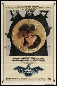 1j001 3 DAYS OF THE CONDOR 1sh '75 CIA analyst Robert Redford & Faye Dunaway!