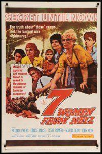 1j007 7 WOMEN FROM HELL 1sh '61 Patricia Owens is driven to shame in a World War II prison camp!