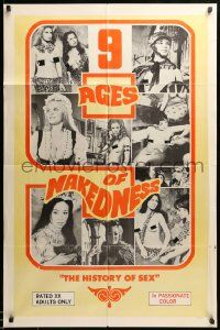 1j020 9 AGES OF NAKEDNESS 1sh '70 Harrison Marks directs & stars, Max Bacon, Sue Bond, sexy images