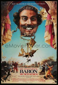 1j023 ADVENTURES OF BARON MUNCHAUSEN 1sh '89 directed by Terry Gilliam, John Neville balloon image!