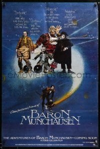 1j024 ADVENTURES OF BARON MUNCHAUSEN teaser 1sh '89 directed by Terry Gilliam, wild art!