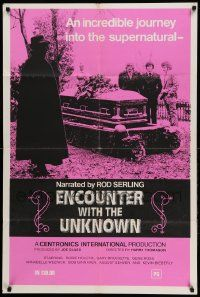 1j283 ENCOUNTER WITH THE UNKNOWN 1sh '73 a journey into the supernatural, small border design!
