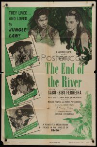 1j284 END OF THE RIVER 1sh '48 Sabu & sexy Bibi Ferreira lived & loved by jungle law!