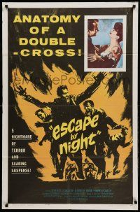 1j291 ESCAPE BY NIGHT 1sh '64 searing suspense, anatomy of a double-cross!