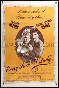 1j295 EVERY INCH A LADY 1sh '75 Darby Lloyd Rains and Harry Reems, orange background design!