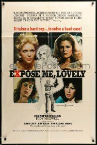 1j306 EXPOSE ME LOVELY 1sh '76 sexy Jennifer Welles knows it takes a hard cop to solve a hard case