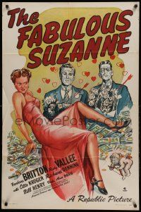 1j312 FABULOUS SUZANNE 1sh '46 Barbara Britton, Rudy Vallee, Otto Kruger, Denning