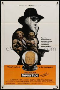 1j315 FAMILY PLOT 1sh '76 from the mind of devious Alfred Hitchcock, Karen Black, Bruce Dern!