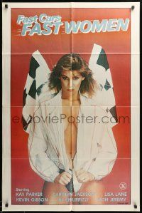 1j320 FAST CARS FAST WOMEN 1sh '81 sexy girl wearing racing jacket, Ron Jeremy, x-rated!
