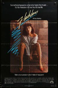 1j341 FLASHDANCE 1sh '83 sexy dancer Jennifer Beals, take your passion and make it happen!