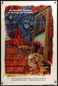 1j342 FLESH & BLOOD SHOW 1sh '73 an appalling amalgam of carnage & carnality in 3-D!