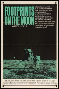 1j344 FOOTPRINTS ON THE MOON 1sh '69 the real story of Apollo 11, cool image of moon landing!