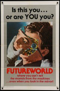 1j357 FUTUREWORLD 1sh '76 AIP, a world where you can't tell the mortals from the machines!