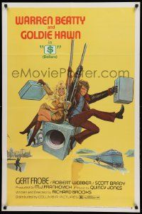 1j010 $ 1sh '71 great art of bank robbers Warren Beatty & Goldie Hawn on safe!