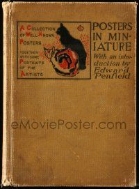 1m474 POSTERS IN MINIATURE hardcover book 1896 collection of well known posters & artist portraits!