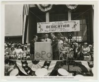 1s050 ABBOTT & COSTELLO 8.25x10 still '47 announcing dedication exercises for Lou's foundation!