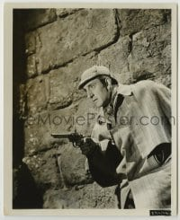 1s056 ADVENTURES OF SHERLOCK HOLMES 8.25x10 still '39 best close up of Basil Rathbone with gun!
