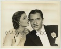 1s058 AFTER THE THIN MAN 8x10.25 still '36 wonderful c/u of Myrna Loy whispering to William Powell