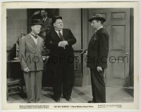 1s060 AIR RAID WARDENS 8.25x10.25 still '43 Laurel & Hardy held at gunpoint by Hitler painting!