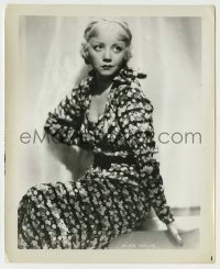1s063 ALICE WHITE 8.25x10 still '20s sexy full-length seated portrait in floral print dress!
