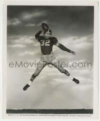 1s065 ALL AMERICAN 8.25x10 still '53 football star Tony Curtis in mid-air with ball in hand!