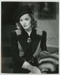 1s069 ALWAYS GOODBYE 7.5x9.25 still '38 close portrait of Barbara Stanwyck in cool outfit w/ fur!