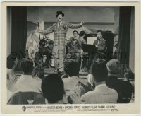 1s070 ALWAYS LEAVE THEM LAUGHING 8.25x10 still '49 great image of Milton Berle on stage with band!