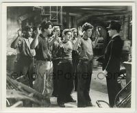 1s075 ANGELS WITH DIRTY FACES TV 8.25x10 still R50s James Cagney holds Dead End Kids at combpoint!