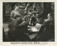 1s074 ANGELS WITH DIRTY FACES 8.25x10 still '38 The Dead End Kids reading newspaper headline!