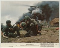 1s007 APOCALYPSE NOW 8x10 mini LC #6 '79 soldiers by helicopter with Death From Above on front!