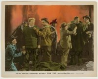 1s002 BOOM TOWN color-glos 8x10.25 still '40 Spencer Tracy & Clark Gable with firemen by inferno!