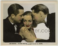 1s003 BRIDE WORE RED color-glos 8x10.25 still '37 Joan Crawford between Franchot Tone & Robert Young