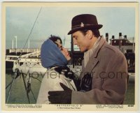 1s012 BUTTERFIELD 8 color 8x10 still #12 '60 Elizabeth Taylor & Laurence Harvey on the waterfront!