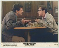 1s019 FRONT 8x10 mini LC #2 '76 Woody Allen playing chess with communist contact Michael Murphy!