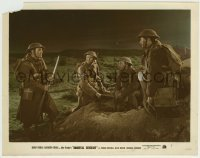 1s021 IMMORTAL SERGEANT color 8x10.25 still '43 Henry Fonda & WWII soldiers standing on dirt pile!