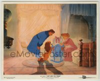 1s025 LADY & THE TRAMP color 8x10 still '55 Disney classic dog cartoon, Lady admires baby w/family!