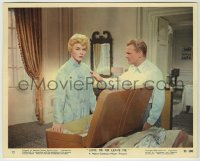 1s027 LOVE ME OR LEAVE ME color 8x10 still #12 '55 James Cagney with Doris Day packing suitcase!