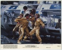 1s033 MOONRAKER 8x10 mini LC #4 '79 Roger Moore as James Bond fighting in the enemy base!